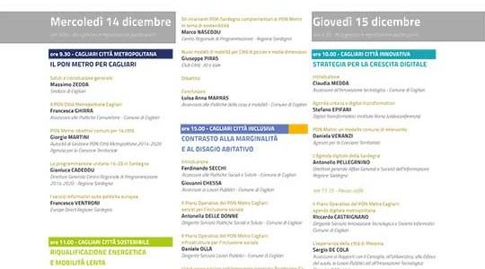 Cagliari Città Metropolitana – innovativa, inclusiva e sostenibile – 14/15 dicembre 2016